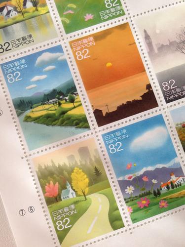 黒井健 秋の切手